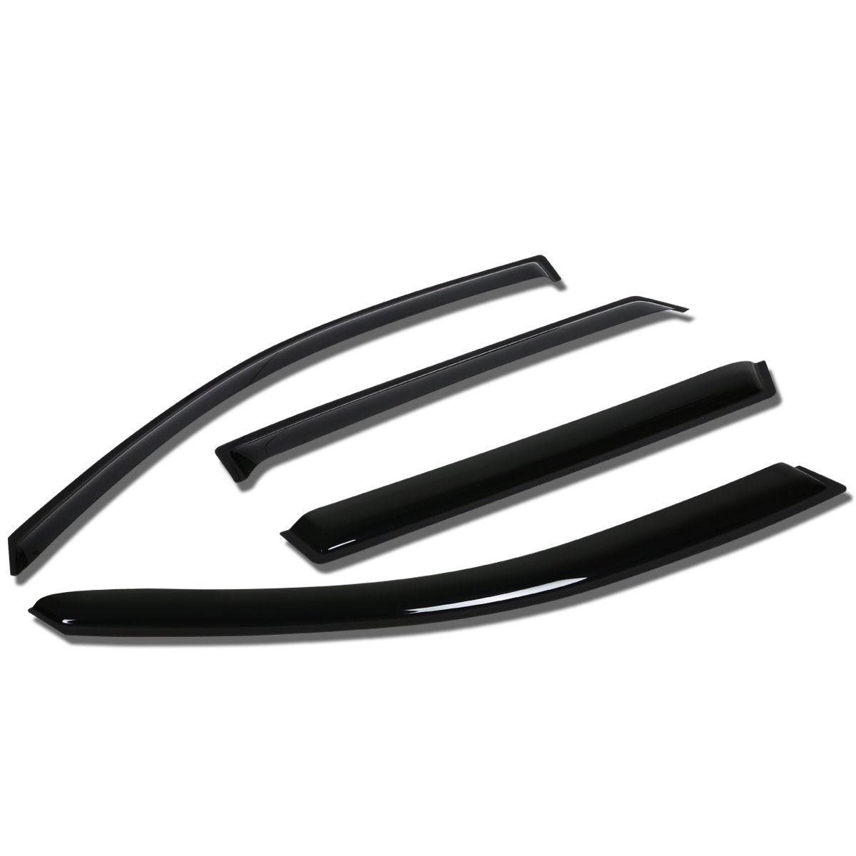 DNA Motoring WVS-080 4pcs Window Vent Visor Deflector Rain Guard Dark Smoke