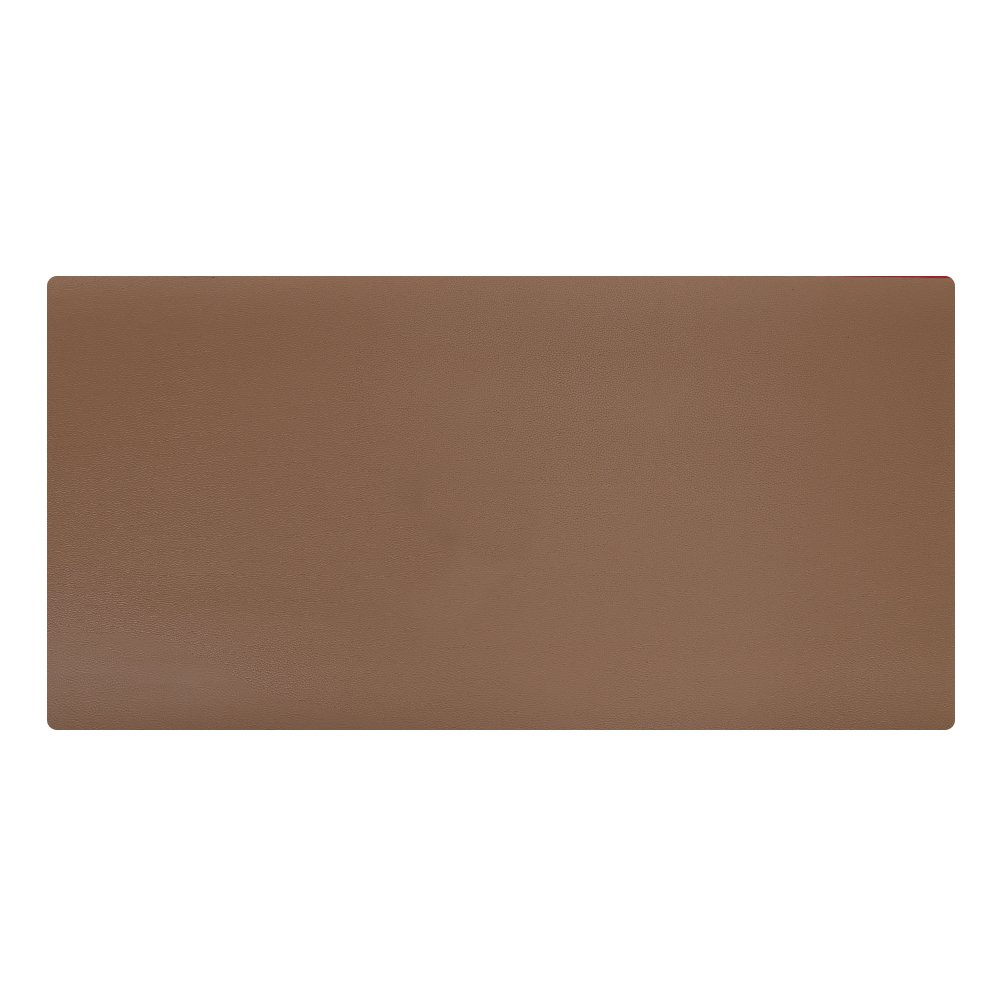 """KINGFOM Desk Mat Pad Blotter Protector 47.2"""" x 23.6"""", PU Leather Desk Mat Laptop Keyboard Mouse Pad with Comfortable Writing Surface Waterproof (Brown)"""