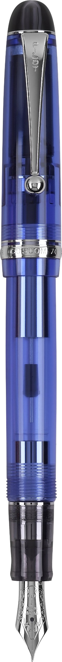 PILOT Custom 74 Fountain Pen, Blue Barrel, Medium Nib (60696)