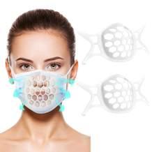 3D Face Mask Bracket- Cool Face Mask Holder- Mask Guards for Under Mask- Silicone Mask Bracket Inner Support Frame (5PCS, White)