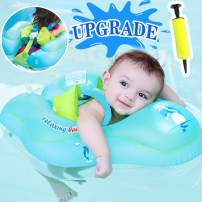 Camlinbo 【Anti-Slip Crotch】 Baby Swimming Float Ring - Baby Spring Floats Swim Trainer Newborn Baby Kid Toddler Summer Outdoor Beach Water Bath Toy Swimming Pool Accessories