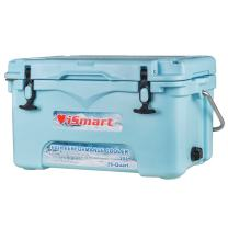 iSmart 26 Quart Ice Chest Rotomolded Cooler Box with Bottle Opener,High Performance Commercial,Blue,25L