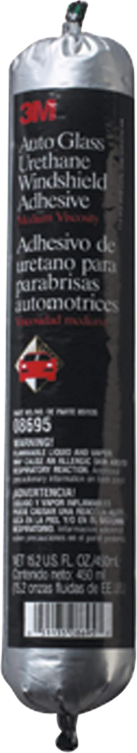3M Auto Glass Urethane Windshield Adhesive, 08695, 450 mL Flex Pack