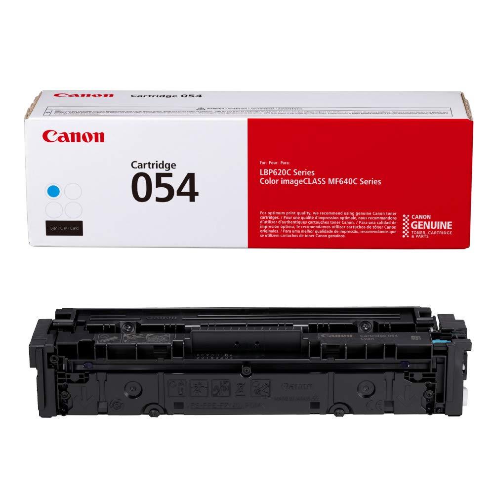 Canon Genuine Toner, Cartridge 054 Cyan (3023C001) 1 Pack, for Canon Color imageCLASS MF641Cdw, MF642Cdw, MF644Cdw, LBP622Cdw Laser Printers