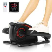 ANCHEER Desk Elliptical Trainer Machine,Under Pedal Exerciser,Mini Sitting Stepper Cycle Bike with Configuring Remote Control and Built-in Display Monitor,Quiet&Compact