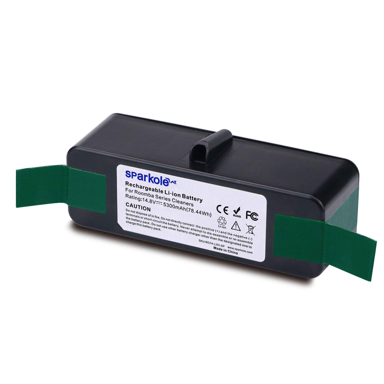 SPARKOLE 5300mAh Extended Life Lithium Ion Battery Compatible with iRobot Roomba 500 600 700 800 Series 675 880 770 650 655 595 870 890 860 805 850 780 790 760 630 620 645 671 531 585 561 560 550 891
