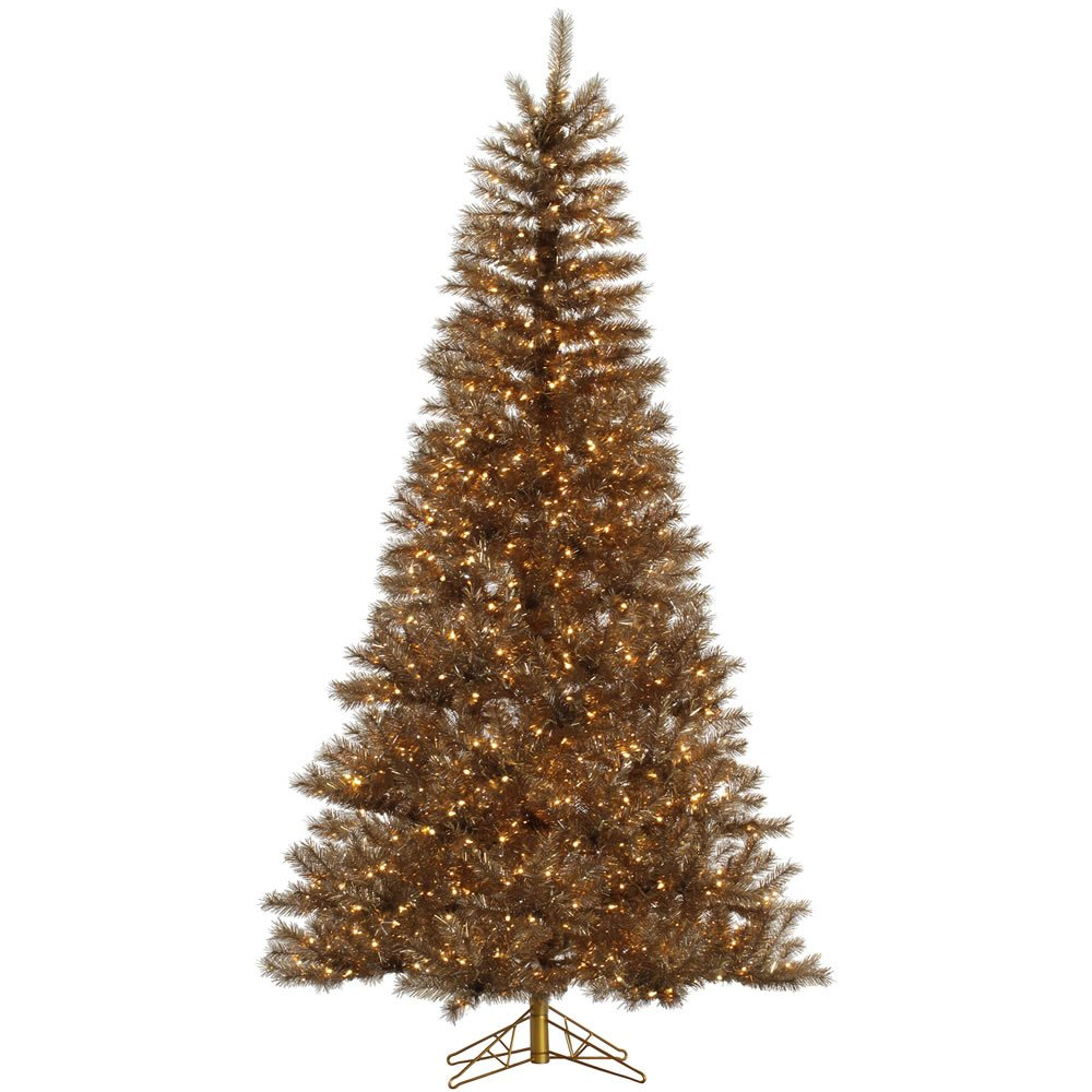 """Vickerman 65"""" Metal Mix Tinsel Artificial Christmas Tree with 450 Clear lights"""