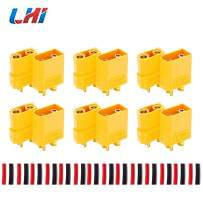 LHI XT90 Battery Connector Set for RC Lipo Battery Motor 6 Pairs Yellow,6 Male Connectors + 6 Female Connectors
