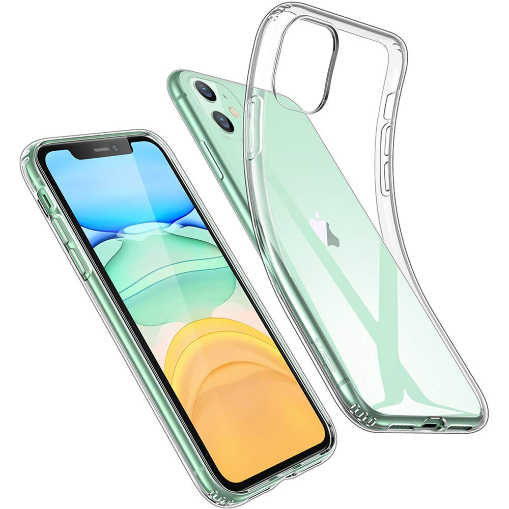 ESR iPhone 11 Case, iPhone 11 Cover with Slim Clear Soft TPU, 1.1 mm Thick Back Case, Shock-Absorbing Air-Guard Corners, Flexible Silicone Cover, Clear