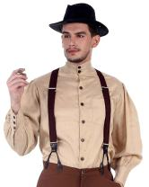 ThePirateDressing Steampunk Victorian Cosplay Costume Mens Seigneur Linen Shirt C1292