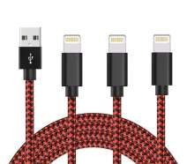 10ft iPhone Charger, SUPWISER 3pack iPhone Cable MFi Certified High-Speed iPhone Cord Nylon Braided Lightning to USB A Cable Compatible iPhone 11/PRO/XR/XS//X/Max/8/7/6/6S/5/5S/SE/Plus/iPad More