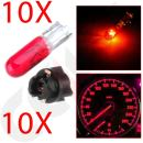 cciyu Red T5 37 74 2721 Halogen Red bulbs Replacement fit for Side/Fender Marker Clearance Light Lamp 12V With Twist Lock Sockets (Total of 20 Pcs)