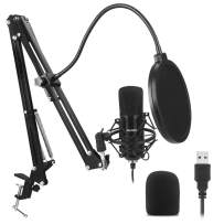 USB Microphone Kit Plug & Play USB Computer Mic Cardioid Podcast Condenser Microphone with Professional Sound Chipset for PC, YouTube, Gaming Recording