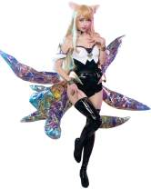 miccostumes Women's LOL KDA Ahri Cosplay Costume Outfit