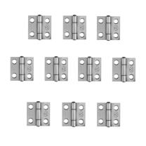 Adiyer [10 Pack] 304 Stainless Steel Butt Hinges for Cabinet Cupboard Jewelry Box (25mm x 24.5mm x 1mm)