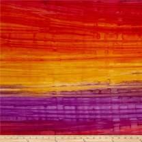 Robert Kaufman Kaufman Artisan Batiks Patina Handpaints Stripes, Yard, Bright