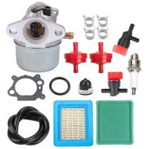 Hayskill 799868 Carburetor w Air Filter Tune Up Kit for Briggs and Stratton 498170 497586 497314 698444 498254 497347 497410 496115 799872 790821 498255 14111 498966 694822 4 5 6 7 Hp Carb