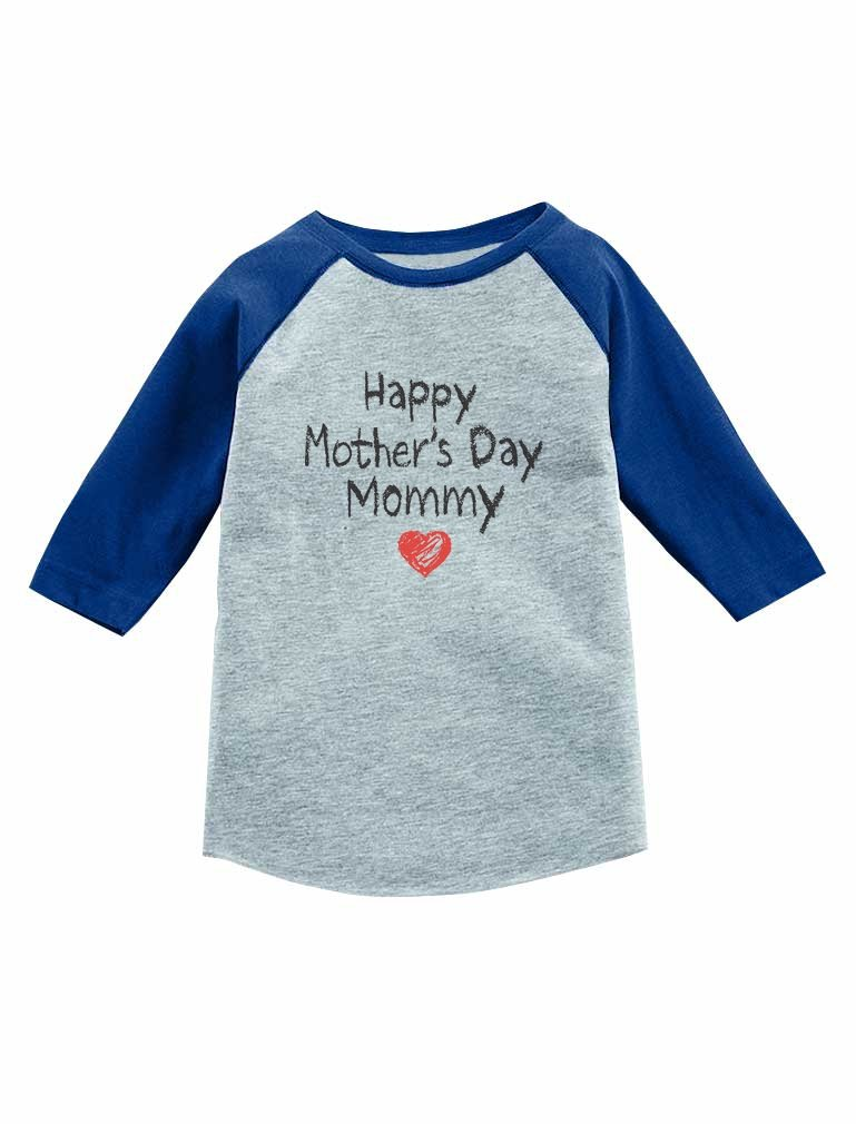 Happy Mother's Day Mommy Gift for Mom 3/4 Sleeve Baseball Jersey Toddler Shirt
