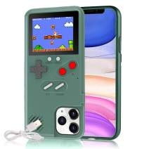 Gameboy Case for iPhone, Autbye Retro 3D Phone Case Game Console with 36 Classic Game, Color Display Shockproof Video Game Phone Case for iPhone (for iPhone 11 Pro Max, Green)