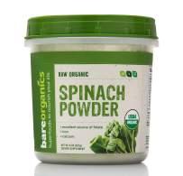 BareOrganics Spinach Powder | Organic, Vegan, Non-GMO, Gluten-Free | Energy & Vitality, 8oz