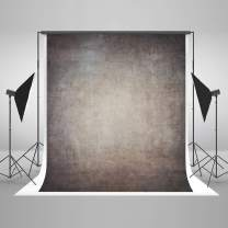 8ft(W) x8ft(H) Gray Canvas Portrait Photo Backdrop Muslin Studio Abstract Grunge Background Old Paper Photo Studio Booth Props for Photography Seamless Free Wrinkles