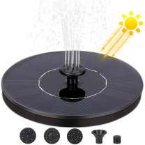 Nonley Solar Bird Bath Fountain Pump, Solar Fountain with 4 Nozzle, 1.4 W Free Standing Floating Solar Powered Water Fountain Pump for Bird Bath, Pond, Pool, Outdoor, Garden Decoration