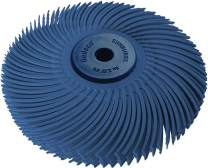 "Dedeco Sunburst - 3"" TC 6-PLY Radial Bristle Discs - 1/4"" Arbor - Industrial Thermoplastic Rotary Cleaning and Polishing Tool, Fine 400 Grit (1 Pack)"