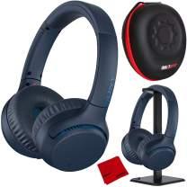 Sony WH-XB700 Extra BASS Wireless Headphones - Blue with Deco Gear Audio Bundle