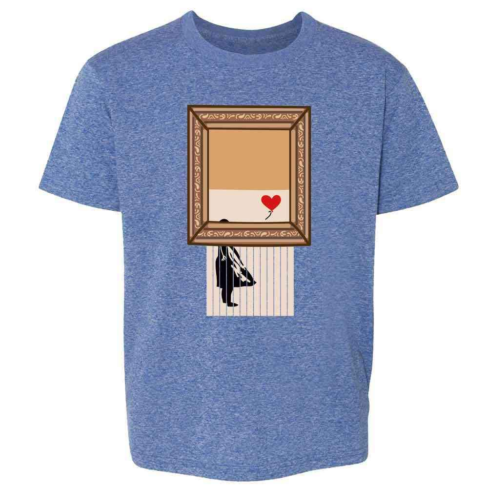 Shredded Banksy Girl with Balloon Funny Art Youth Kids Girl Boy T-Shirt
