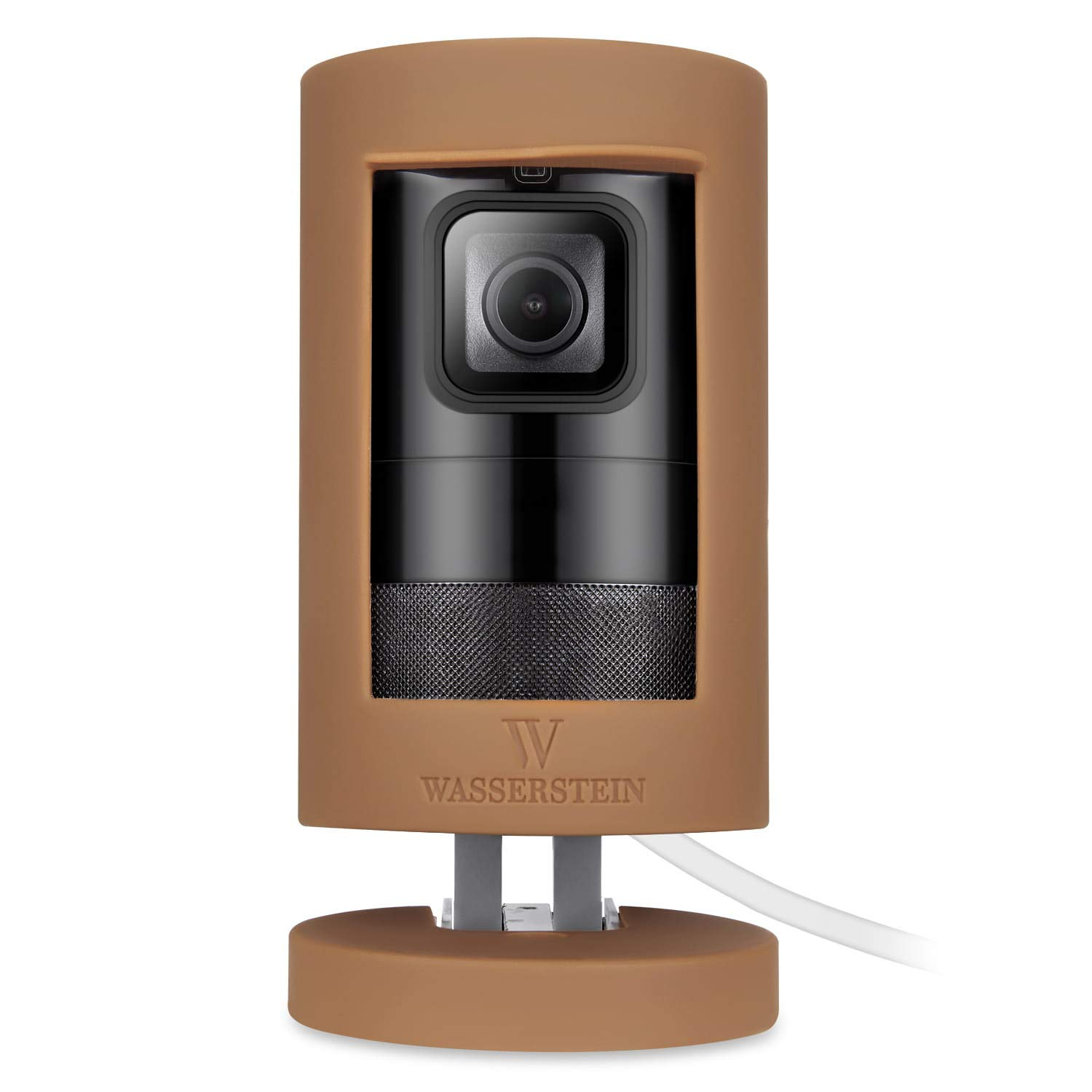 Protective Silicone Cover Compatible with Ring Stick Up Cam Battery - Accessorize and Protect Your Ring Camera (Brown)