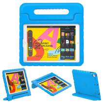 """Dadanism Kids Case Fit New iPad 10.2 2019 (7th Generation)/iPad Air 3/Pro 10.5"""" Tablet, Lightweight Shockproof EVA Kids-Friendly Protective Convertible Stand Cover with Handle - Blue"""