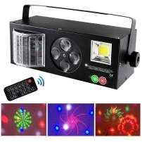 Party Stage Light with 4 in 1 Function (Strobe/Butterfly/Patterns/Green-Red) Controlled by Remote and DMX for Club Disco Wedding Bar DJ