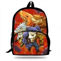 16-Inch Children Shark brothers Backpack For Boys Girls Animal Bags For Kids (H1014)