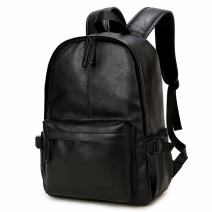 Vintage PU Leather Backpack, OURBAG Outdoor School College Bookbag fit Laptop Computer Backpack for Man and Woman
