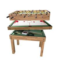 haxTON 1 Set of Popular Game Tables 5 in 1 Multi-Use Game Table Compact Combination Game Tables Mini Game Tables Foosball Table Air Hockey Table Pool Table Mini Table for Children Adult
