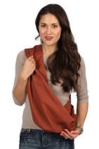 HugaMonkey Cotton Baby Sling Wrap Carrier for Newborn Babies, Infants and Toddlers Upto 3 Years - Burnt Orange, Large