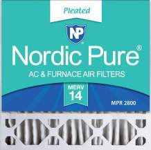 Nordic Pure 20x20x5 MERV 14 Honeywell/Lennox Replacement AC Furnace Air Filter 2 Pack