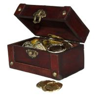 Decorative Gifts Mini Treasure Chest Full of Coins