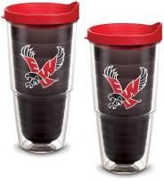 Tervis 1082313 Eastern Washington Eagles Logo Tumbler with Emblem and Red Lid 2 Pack 24oz, Quartz