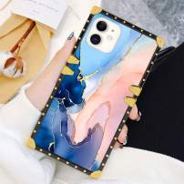 Square Case Compatible iPhone 11 2019 6.1 Inch Gold Glitter Sparkle Marble Luxury Elegant Soft TPU Shockproof Protective Metal Decoration Corner Back Cover Case iPhone 11 Case