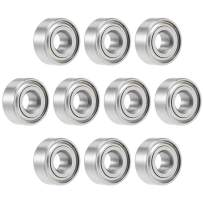 uxcell MR104ZZ Deep Groove Ball Bearing 4x10x4mm Double Shielded Chrome Steel Bearings 10-Pack
