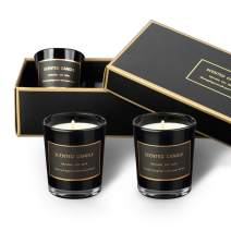 Cafthings Scented Candles Gift Set 3 Pack Black Candles, Premium Matte Black Glass Packaging, Natural Soy Wax, for Stress Relief Home Decor and Aromatherapy(3 Pack)