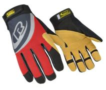 Ringers Gloves R-355 Rope Rescue, Red, Palm & Finger Protection, Synthetic Leather Palm, Small