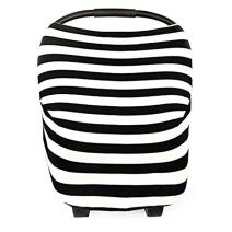 Baby Car Seat Canopy, Shopping Cart, Stroller Covers for Infant Baby - Striped Multi-use Infinity Stretchy Shawl