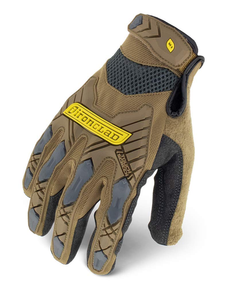 IroncladIEX-PIG-06-XXL Command Impact Work Gloves; Touch Screen Gloves Conductive Palm & Fingers, Impact Protection, Machine Washable, Sized S, M, L, XL, XXL (1 Pair), Brown