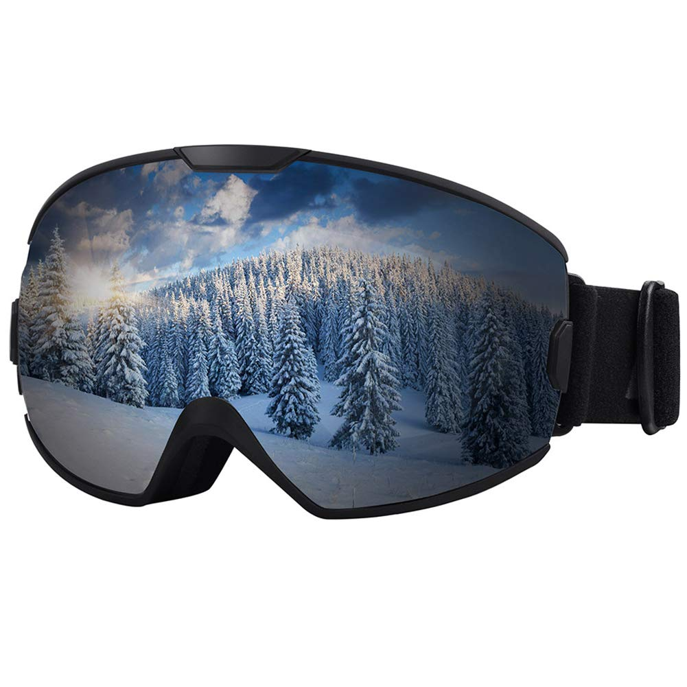 KUYOU Ski Goggles OTG Snow Goggles for Kids Adults Snowboard Goggles Anti-Fog 100% UV Protection