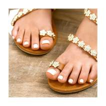 Fstrend 24Pcs Glitter Fake Toenails Mirror White Full Cover Acrylic Glossy Fake Nails for Toes False Nails Press on Toe Art Tips for Women and Girls
