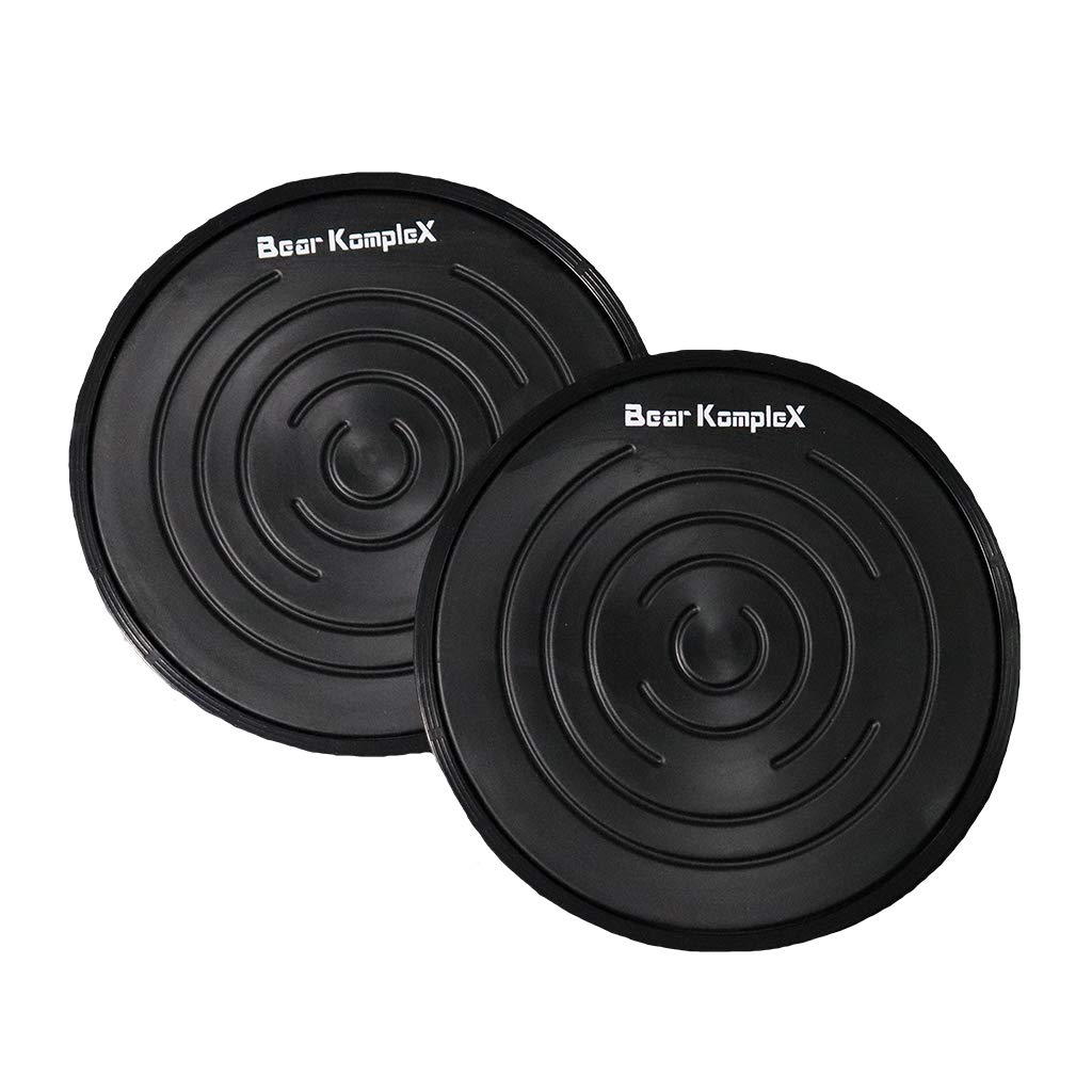Bear KompleX Sliding Core Discs, 2-Pack Dual-Sided Fitness Sliders for Home Workouts, Exercise on Hardwood or Carpeted Surfaces, Strengthen Core and Improve Balance, Includes Home-Workout PDF