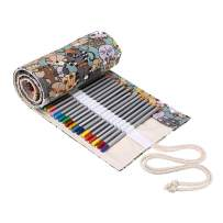 Premier Colored Pencils Roll Wrap, Holiday Gift,Colored Pencil Case 36 Slot