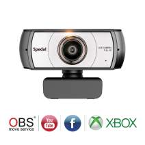 Spedal Full HD Webcam 1080p, Live Streaming Webcam, 120 Degree Ultra Wide Angle, Computer Laptop Camera for Xbox OBS XSplit Skype Facebook, Compatible for Mac OS Windows 10/8/7
